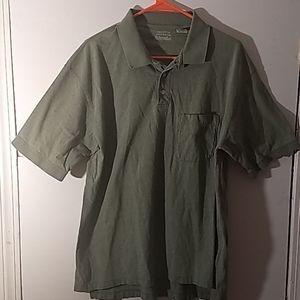 ST John's Bay Polo Short Sleeve Shirt SZ L
